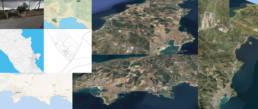list satellite map for information design